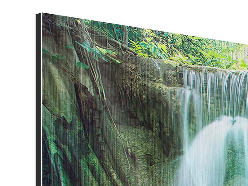 Panorama Metallic-Bild 3-teilig Im Paradies