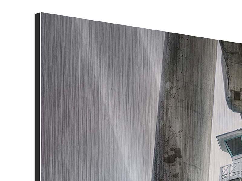 Panorama Metallic-Bild 3-teilig Brückenpfeiler