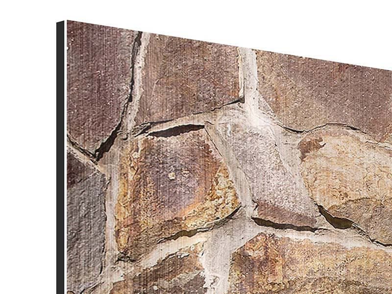 Panorama Metallic-Bild 3-teilig Designmauer