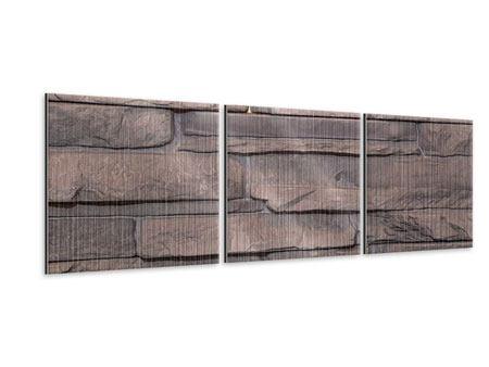 Panorama Metallic-Bild 3-teilig Luxusmauer