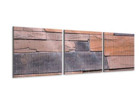 Panorama Metallic-Bild 3-teilig Wall
