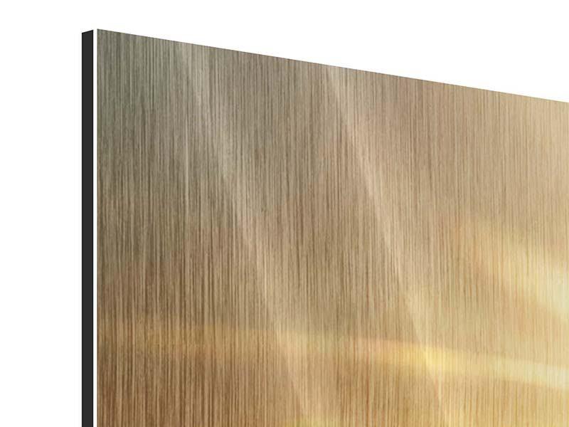 Panorama Metallic-Bild 3-teilig Über dem Wolkenmeer