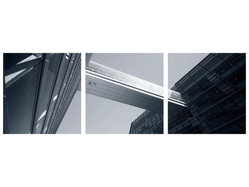 Panorama Metallic-Bild 3-teilig Der schwarze Diamant Kopenhagens