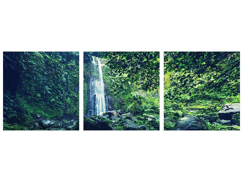 Panorama Metallic-Bild 3-teilig Natur