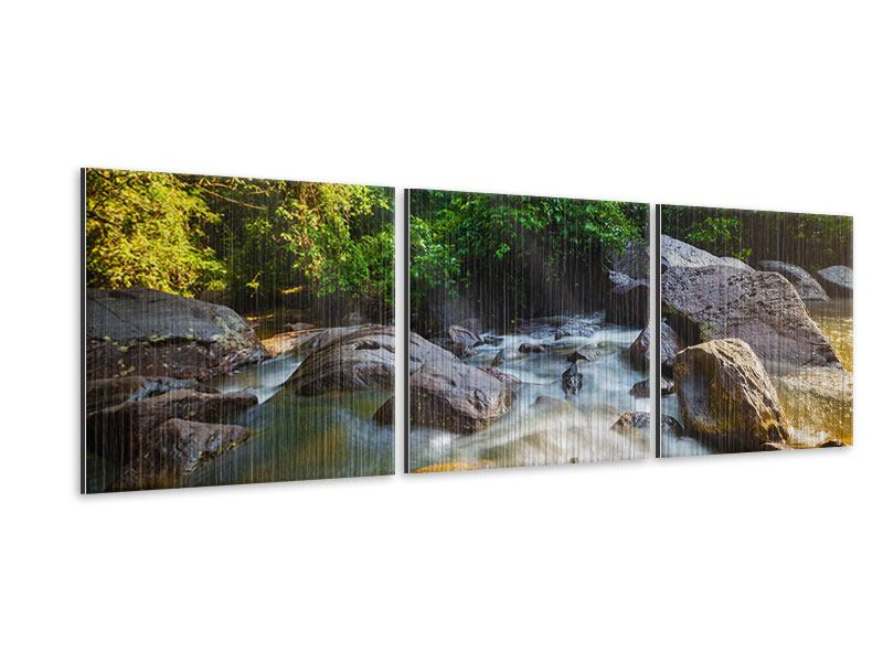 Panorama Metallic-Bild 3-teilig Das Gewässer