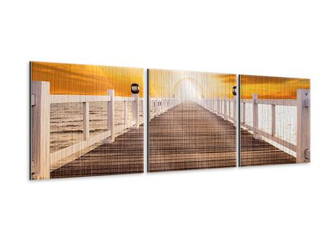 Panorama Metallic-Bild 3-teilig Die Brücke Ins Glück