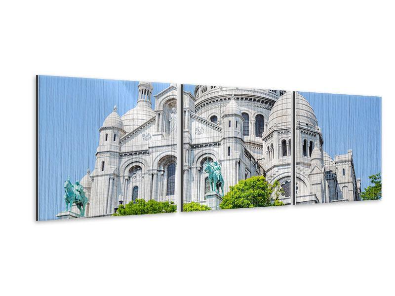 Panorama Metallic-Bild 3-teilig Paris- Montmartre