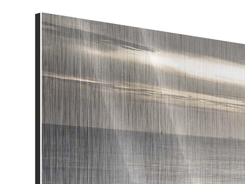 Panorama Metallic-Bild 3-teilig Das Meer und die Träne