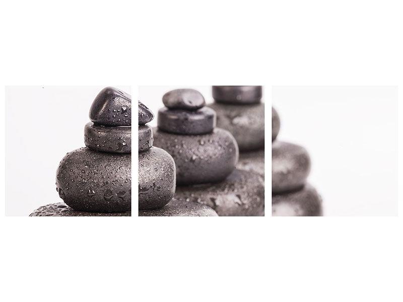 Panorama Metallic-Bild 3-teilig Die Kraft der Steine