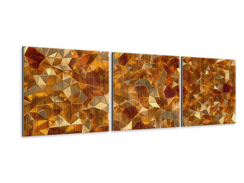 Panorama Metallic-Bild 3-teilig 3D-Bernsteine