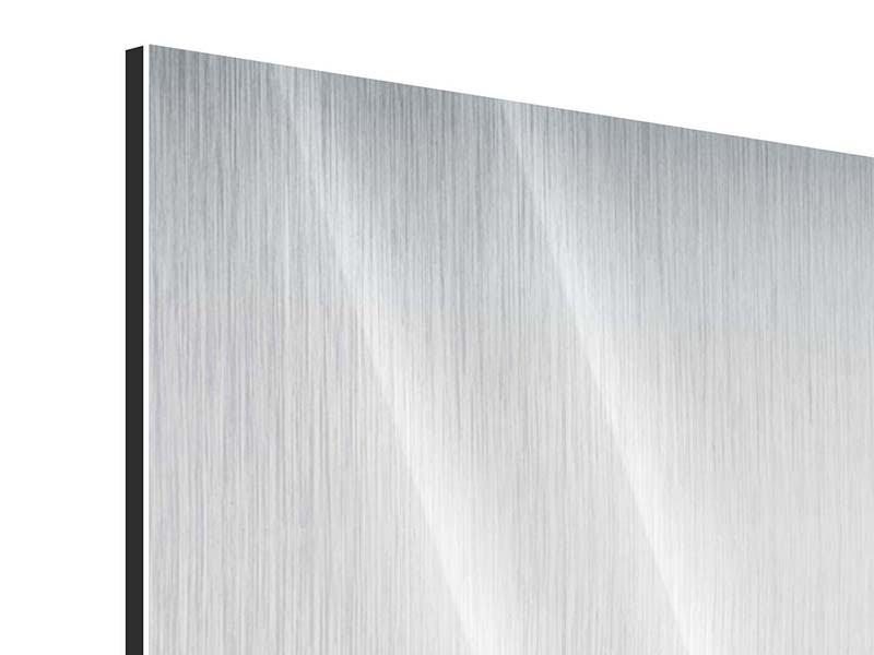 Panorama Metallic-Bild 3-teilig Wasserfigur
