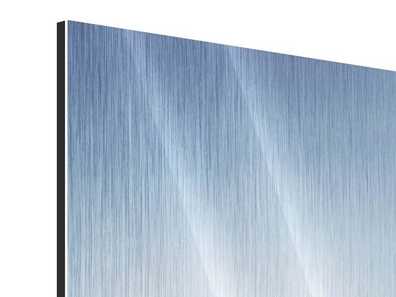 Panorama Metallic-Bild 3-teilig Der Tropfen