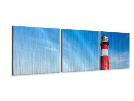 Panorama Metallic-Bild 3-teilig Der Leuchtturm