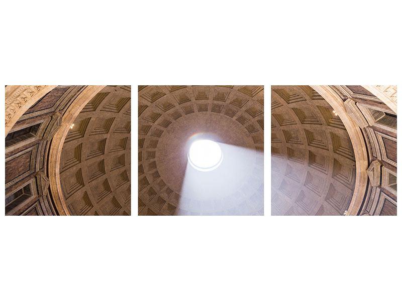 Panorama Metallic-Bild 3-teilig Petersdom