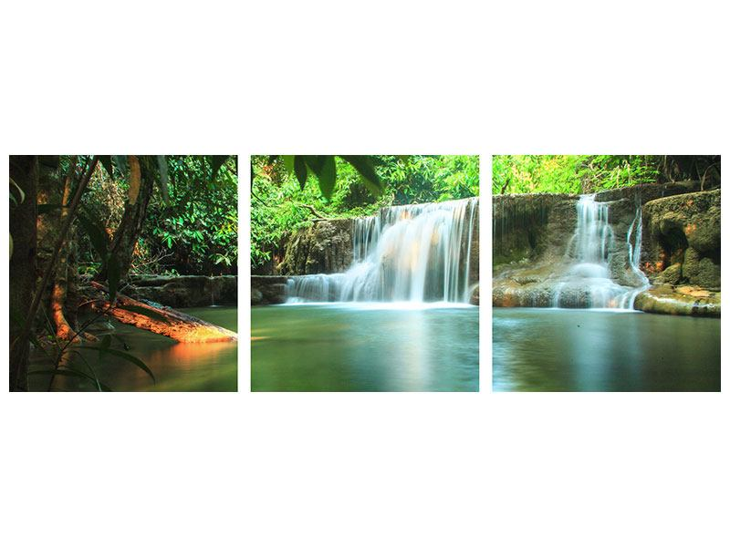 Panorama Metallic-Bild 3-teilig Element Wasser