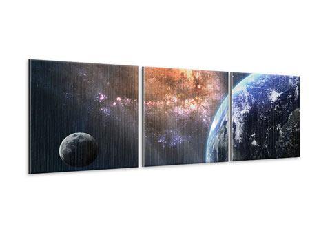Panorama Metallic-Bild 3-teilig Universus