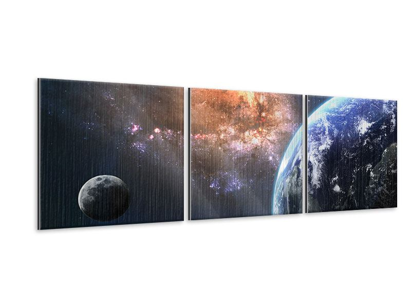 Panoramic 3 Piece Metallic Print Universus