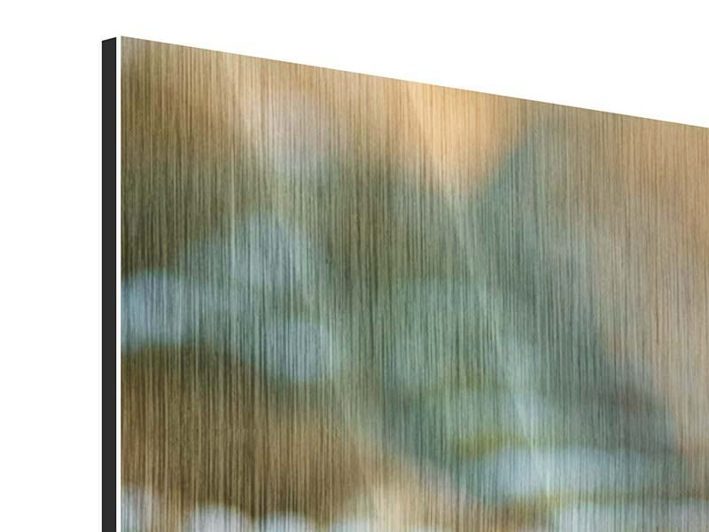Panorama Metallic-Bild 3-teilig Viper