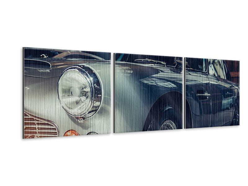 Panorama Metallic-Bild 3-teilig Classic Car