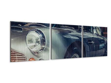 Panorama Metallic-Bild 3-teilig Classic Car
