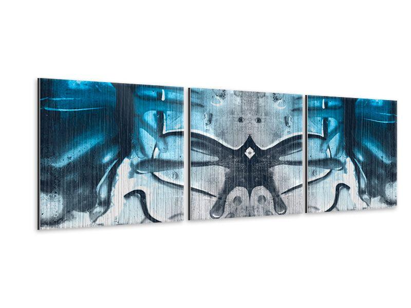 Panorama Metallic-Bild 3-teilig Painting On The Wall