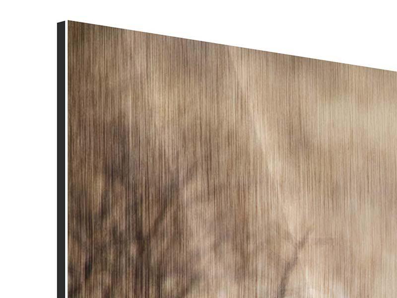 Panorama Metallic-Bild 3-teilig Eleganter Gepard