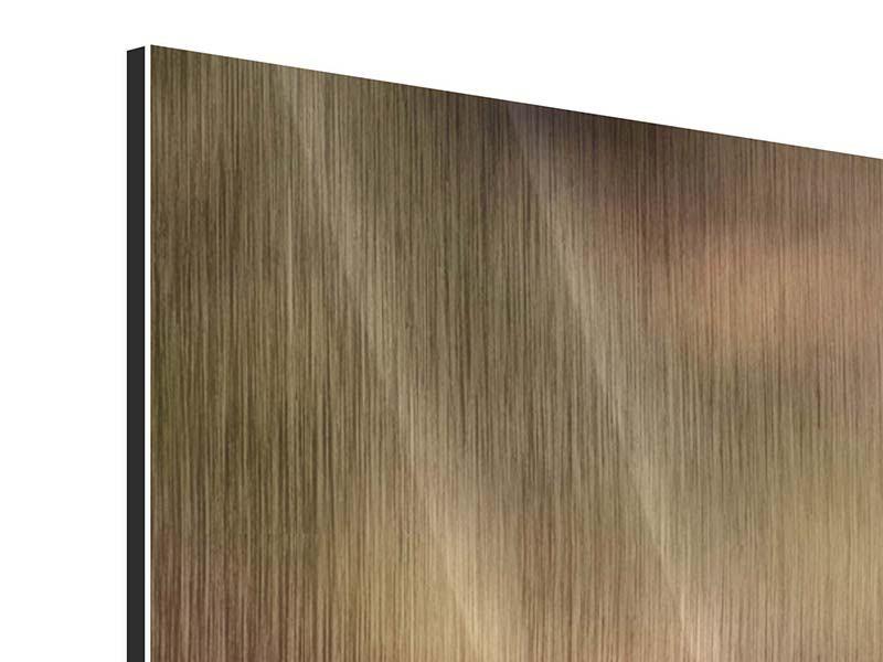 Panorama Metallic-Bild 3-teilig Der Jagdhund