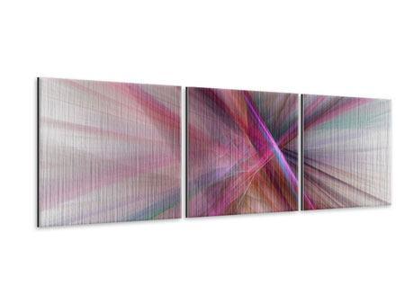Panorama Metallic-Bild 3-teilig Abstraktes Lichterleuchten