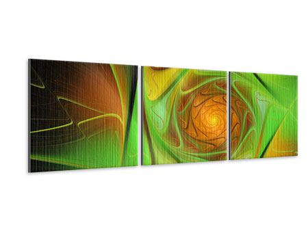 Panorama Metallic-Bild 3-teilig Abstraktionen