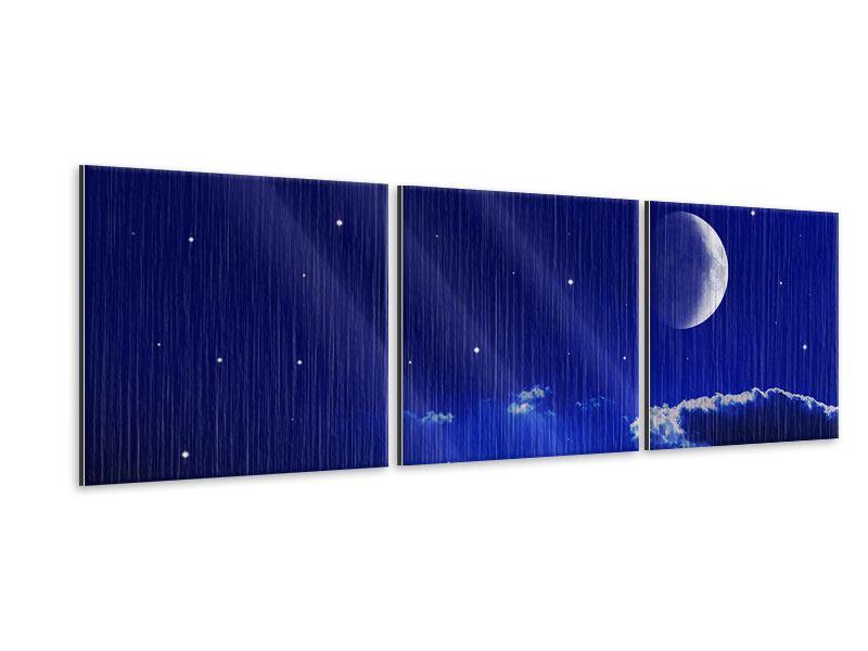 Panorama Metallic-Bild 3-teilig Der Nachthimmel