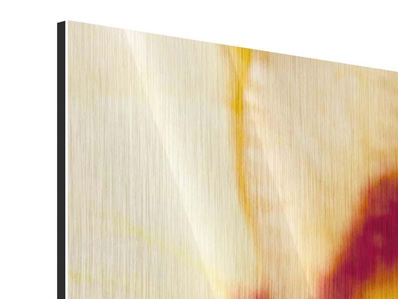 Panorama Metallic-Bild 3-teilig Riesenlilie