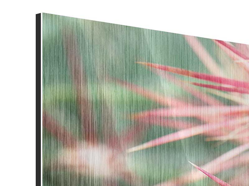 Panorama Metallic-Bild 3-teilig Die Kaktusblüte