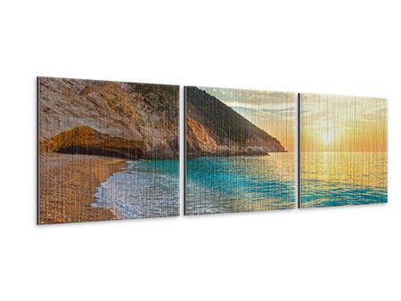 Panorama Metallic-Bild 3-teilig Aussicht