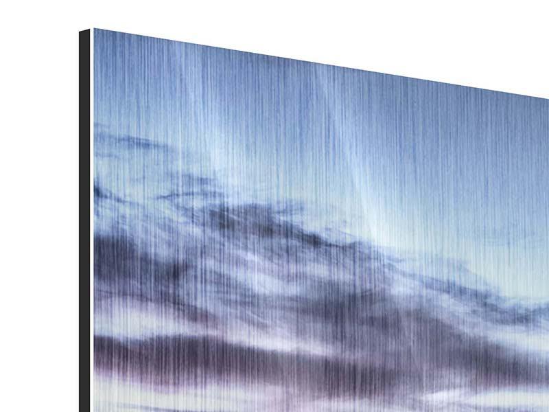 Panorama Metallic-Bild 3-teilig Skyline Sydney Opera House