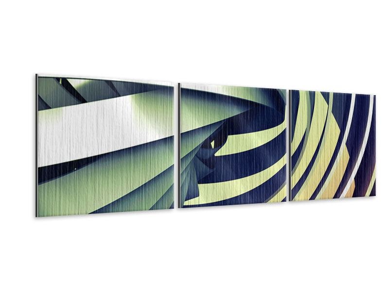 Panorama Metallic-Bild 3-teilig Abstrakte Perspektiven