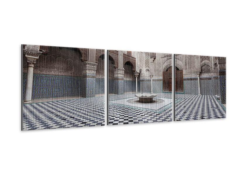 Panorama Metallic-Bild 3-teilig Orientalischer Hinterhof