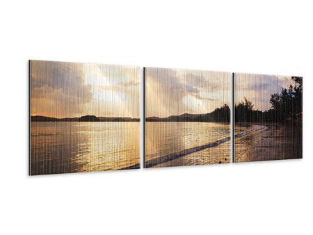Panorama Metallic-Bild 3-teilig Das Ufer