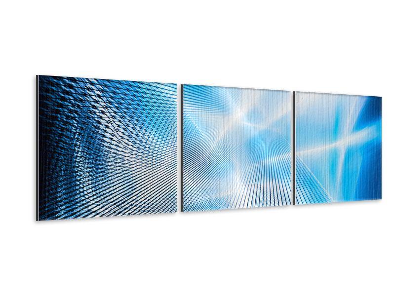 Panorama Metallic-Bild 3-teilig Laser