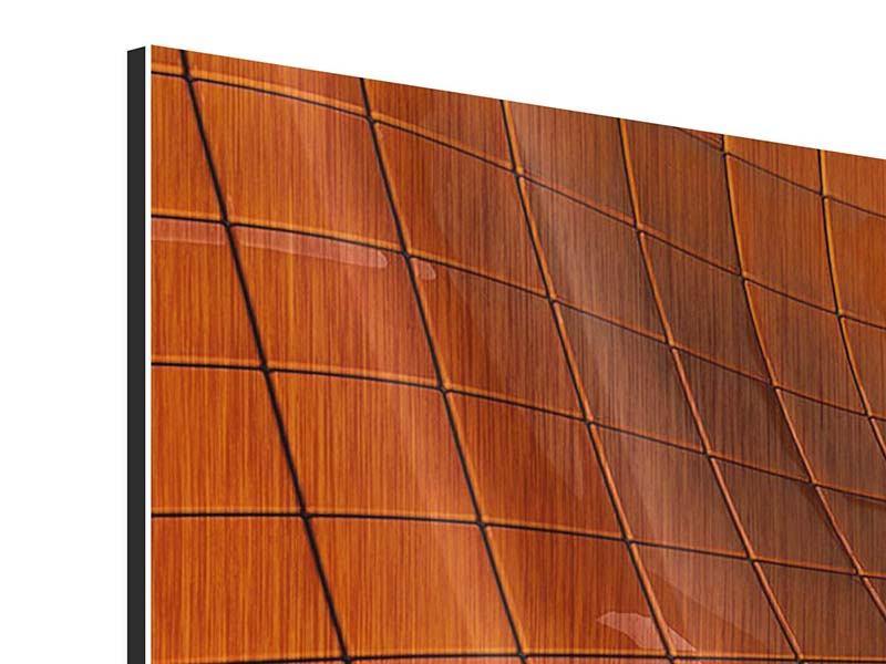 Panorama Metallic-Bild 3-teilig 3D-Kacheln