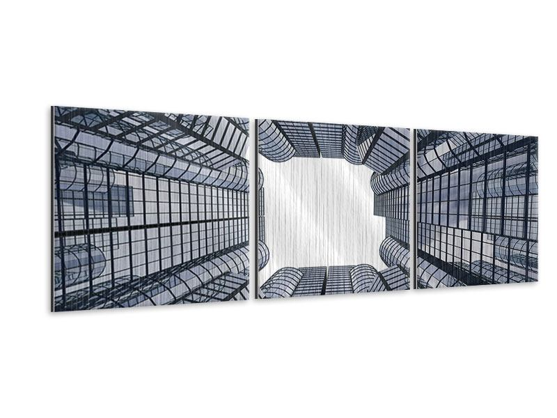 Panorama Metallic-Bild 3-teilig Besondere Perspektive