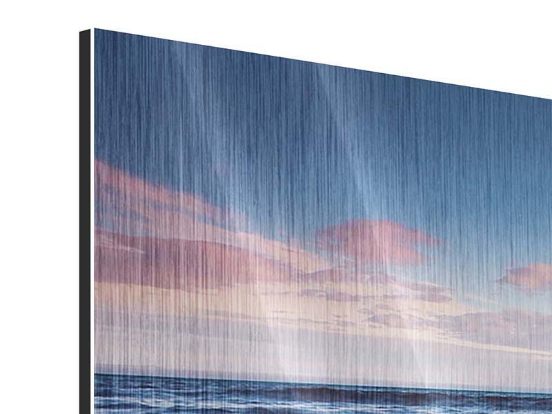 Panorama Metallic-Bild 3-teilig Ort der Sehnsucht