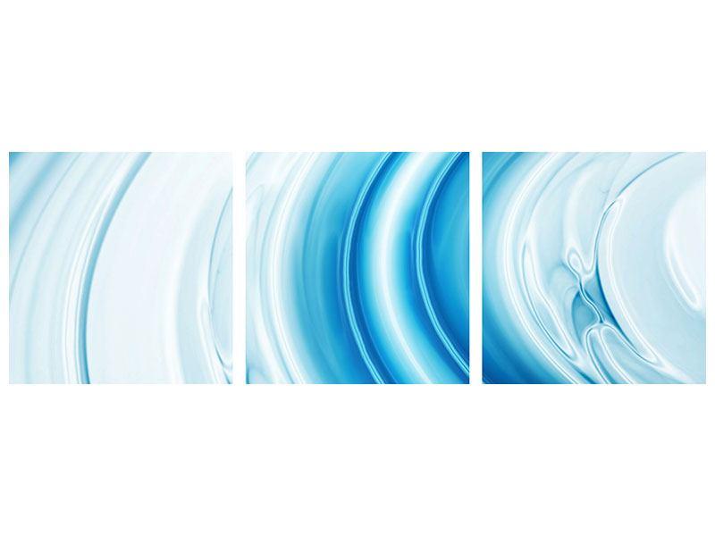 Panorama Metallic-Bild 3-teilig Abstraktes Glas