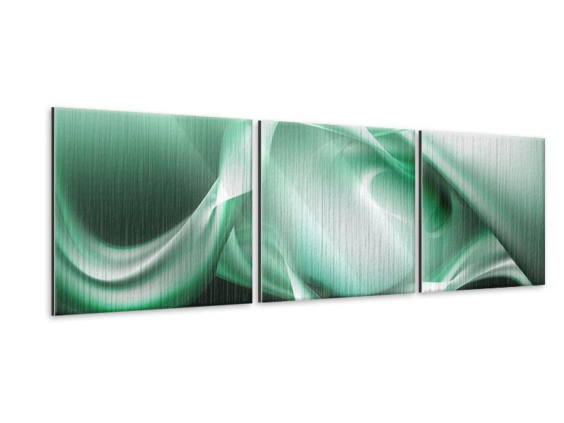 Panorama Metallic-Bild 3-teilig Abstrakt Tuchfühlung