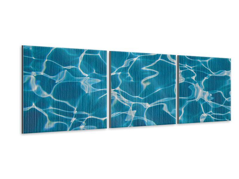 Panorama Metallic-Bild 3-teilig Pool