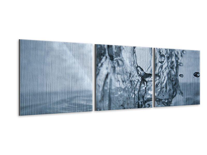 Panorama Metallic-Bild 3-teilig Wasserdynamik