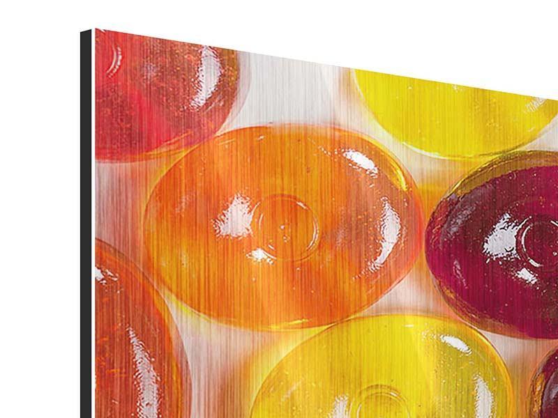 Panorama Metallic-Bild 3-teilig Bonbons