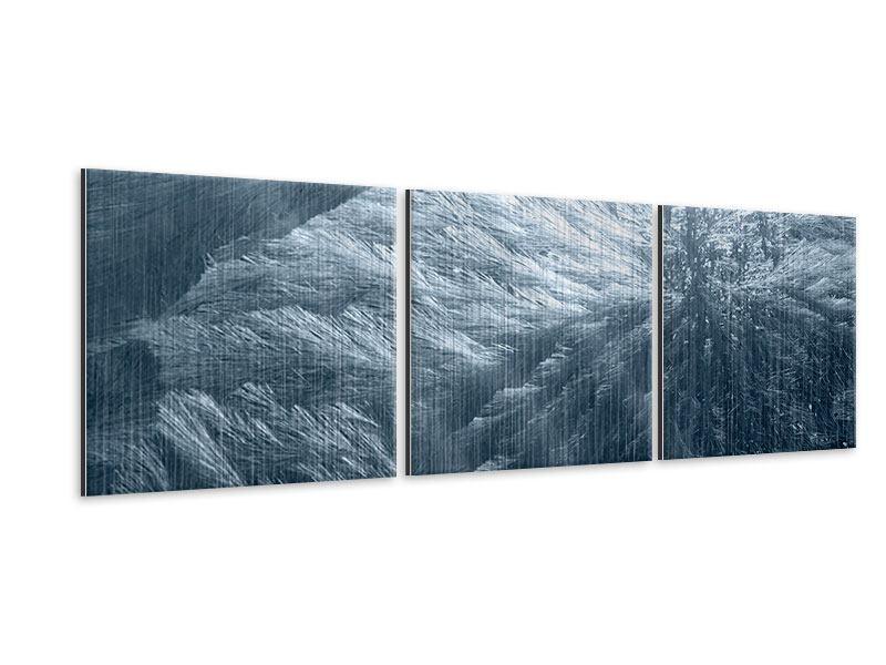 Panorama Metallic-Bild 3-teilig Eis