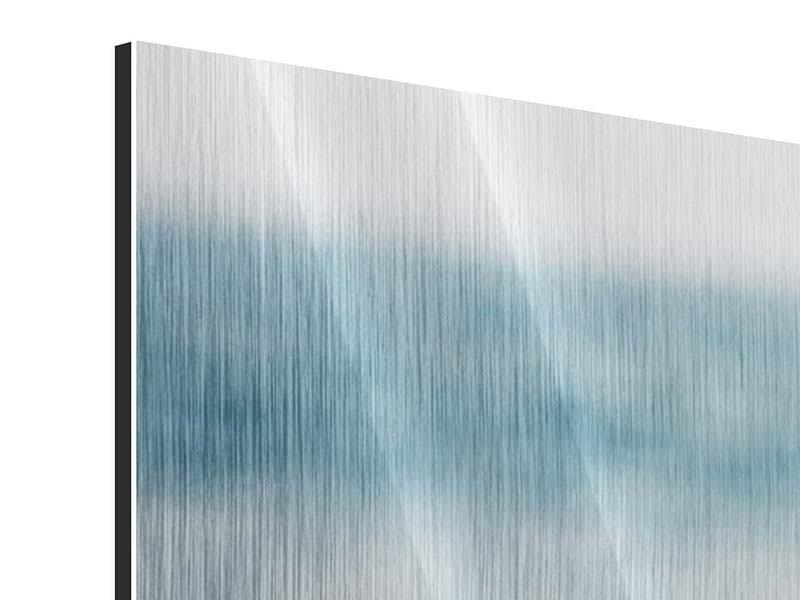 Panorama Metallic-Bild 3-teilig Die Muschel