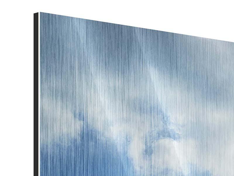 Panorama Metallic-Bild 3-teilig Himmelshoffnung