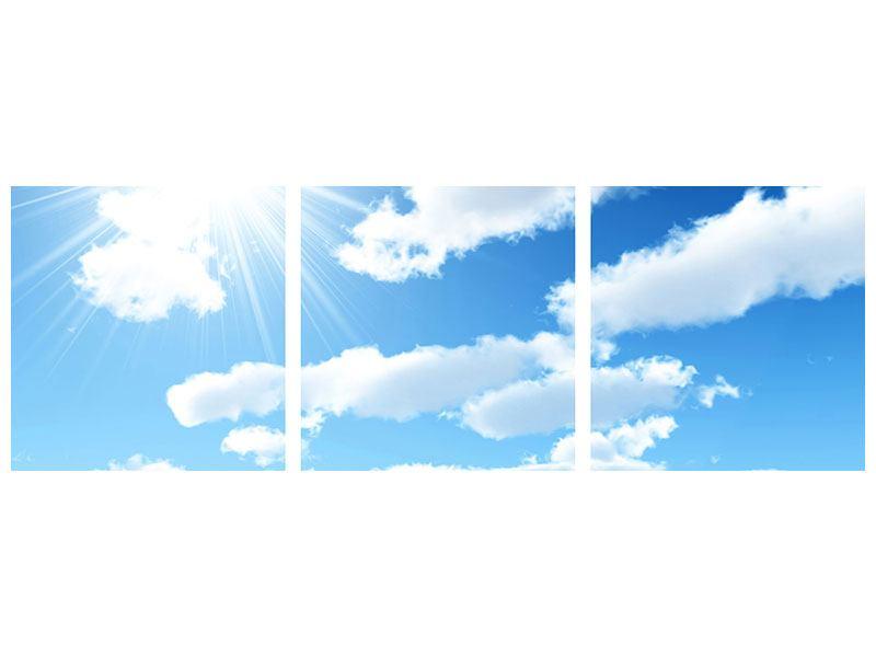 Panorama Metallic-Bild 3-teilig Am Himmel
